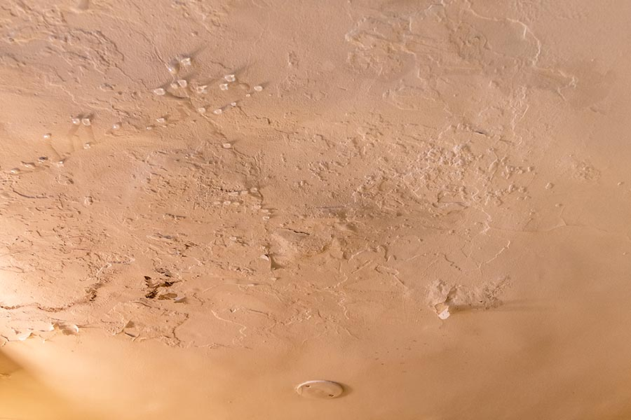 water droplets forming on ceiling